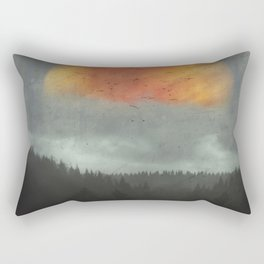 Spaces XVI - Fireball Rectangular Pillow