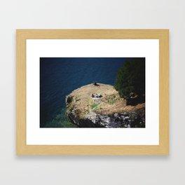 August Sun. Garda. Framed Art Print