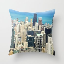 Chicago Buildings Color Photo Throw Pillow