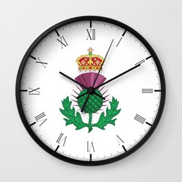 Thistle Symbol Of Scotland Wall Clock