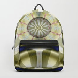 Pinwheel Hubcap in Sepia Backpack