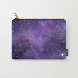Purple Watercolor Space Pattern Carry-All Pouch