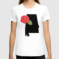 alabama T-shirts featuring Alabama Silhouette by Ursula Rodgers
