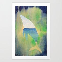 Beached Whale Art Print