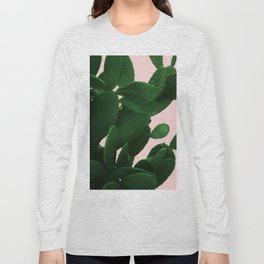 Cactus On Pink Long Sleeve T-shirt