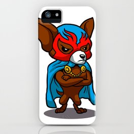Cute dog chihuahua Fighter Lucha Libre iPhone Case