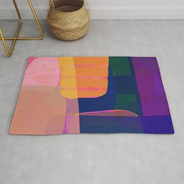 Morning with you abstract Rug