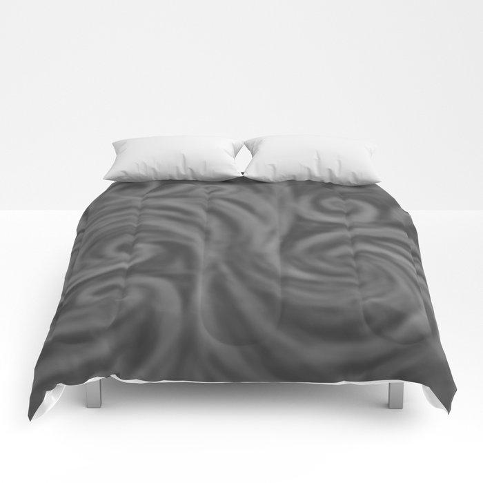 Dark Gray Swirl Comforters