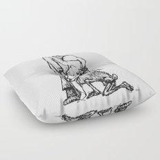 Der Artz, das Mädchen und der Tod  Floor Pillow