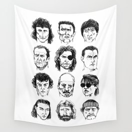 80s Action Stars Wall Tapestry