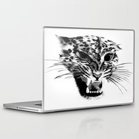 snow leopard Laptop & iPad Skins featuring Snow Leopard by pbnevins