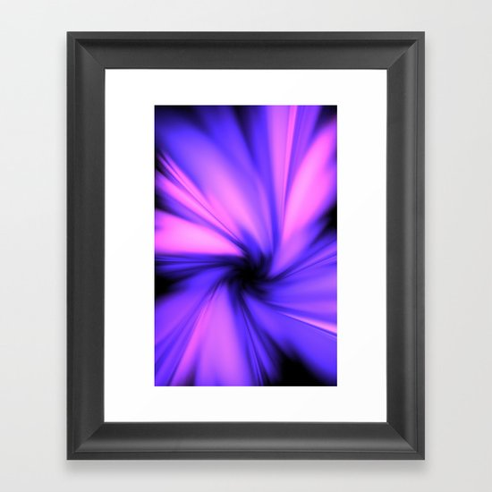 Making a Smoothie (Purple) Framed Art Print