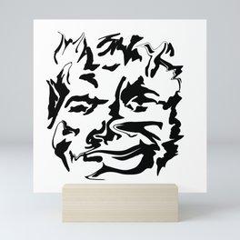 face2 black Mini Art Print