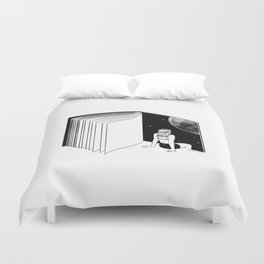 Reading is Dreaming with Your Eyes Open Duvet Cover