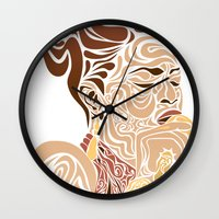 soul Wall Clocks featuring Soul by Cesar Peralta