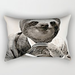 Gentleman Sloth with Assorted Pose Rectangular Pillow