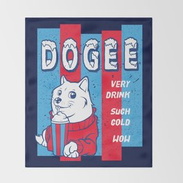 Dogee Such Cold  Throw Blanket