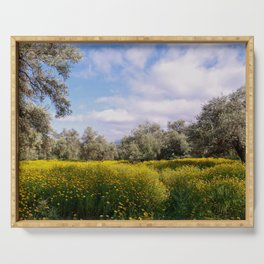 Spring Meadow in Cyprus Serving Tray