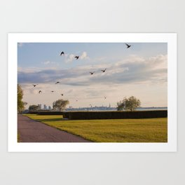 HyperReality Shift. Starling Flyover. Art Print