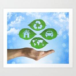 recycling eco concept Art Print