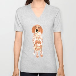 George Sitting Unisex V-Neck