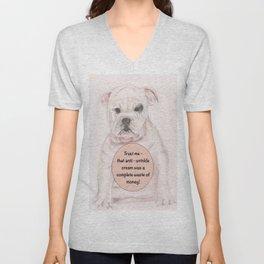 Bulldog humour Unisex V-Neck
