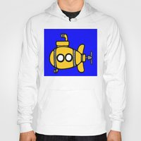 yellow submarine Hoodies featuring Yellow Submarine by Caroline Blicq
