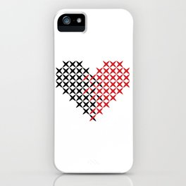 Black and red heart iPhone Case