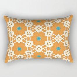 muted orange and ivory trinkets pattern Rectangular Pillow