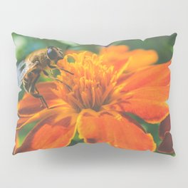 Bee working on flower Pillow Sham