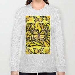 GOLDEN YELLOW MONARCH BUTTERFLIES MELODY Long Sleeve T-shirt