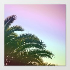 Palm Leaves  - Tropical Sky - Chilling Time Canvas Print