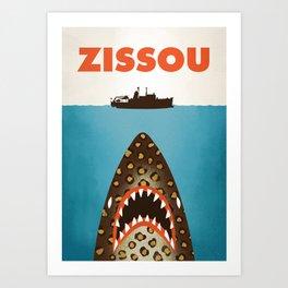 Zissou The Life Aquatic Art Print