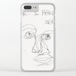 Am I Making Sense? Clear iPhone Case
