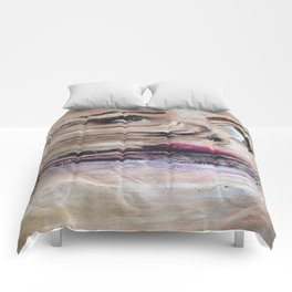 DISTORTED FACE Comforters