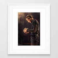 hamlet Framed Art Prints featuring Hamlet by Miki Price