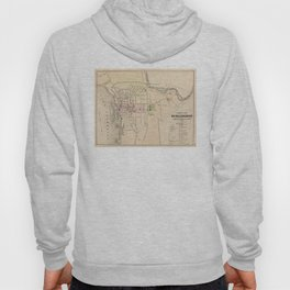 Vintage Map of Burlington Vermont (1873) Hoody