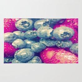 Strawberry & Blueberry Love Rug
