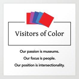 Visitors of Color Art Print