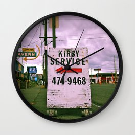 Kirby service sign Wall Clock