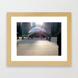 Cloud Gate Framed Art Print