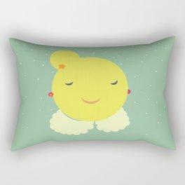 miss sunshine with a collar and snowfall Rectangular Pillow