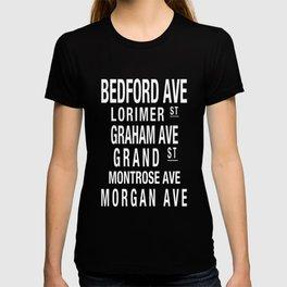 Williamsburg Brooklyn L Train Subway Art T-shirt