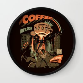 Coffee Invasion Wall Clock