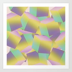 Fade Cubes B2 Art Print
