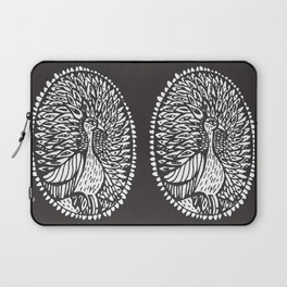 brid peacock black and white Laptop Sleeve