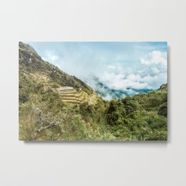 Lost City | Landscape Photography of Historical Incan City with Terraces in Peru Mountains Metal Print