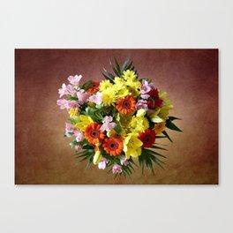 Bouquet Flowers Canvas Print