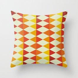 Retro Triangles Pattern Throw Pillow