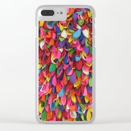 Rainbow Balloons Deflated Clear iPhone Case